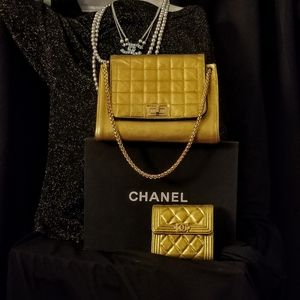 CHANEL Lambskin Chocolate Bar Accordion Flap